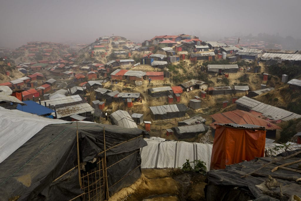 COX'S BAZAR, BANGLADESH- JAN, 2018: More tha 700 000 Rohingyas who fled violences in Myanmar are living in Kutupalong Camp.