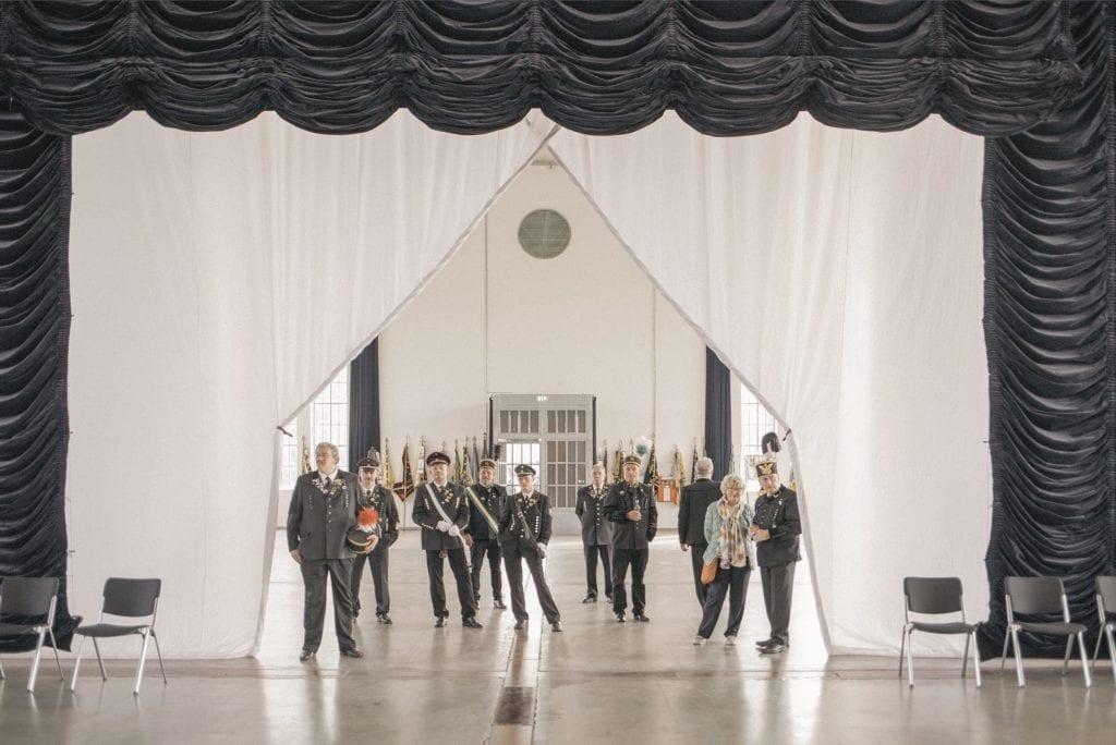 La garde d'honneur de Prosper-Haniel est un rassemblement traditionnel pour les anciens mineurs. Environ800 mineurs en font partie.