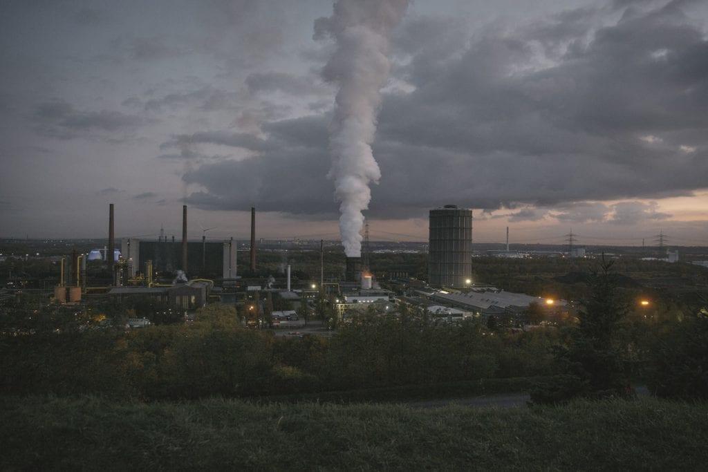 Une vue sur la cokerie qui utilisait le charbon de Prosper-Haniel. Maintenant elle utilise du charbon importé d'Australie et des Etats-Unis.